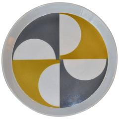 Modernist Colorful Plate Designed by Gio Ponti Plate, Italy, 1960s