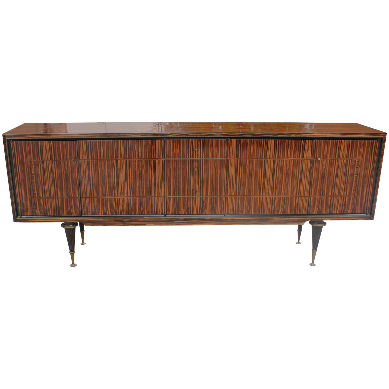 french art deco art moderne exotic macassar ebony buffet. Black Bedroom Furniture Sets. Home Design Ideas