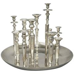 Candleholder Centerpiece, Italy, 1970s