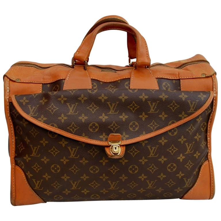 f2a3760c6ae4 1960s Louis Vuitton Monogram Travel Bag Special Made for Saks Fifth Avenue  For Sale