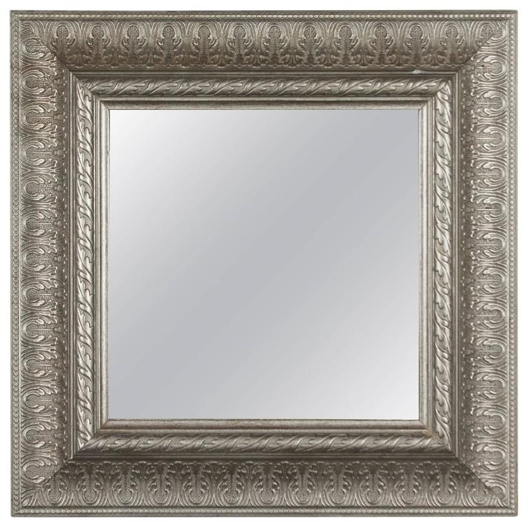 Square Metal Frame Mirror At 1stdibs