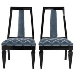 Pair of James Mont Slipper Chairs