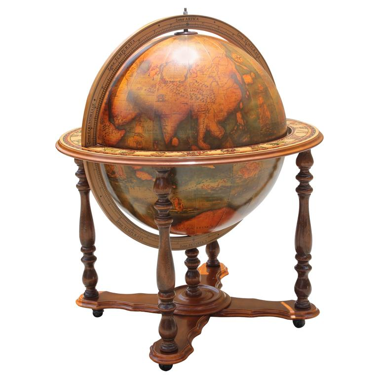 globe liquor cabinet mid century modern world globe bar circa 1960s at 15933