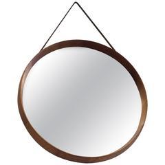 Uno & Osten Kristiansson Round Oak Mirror by Luxus