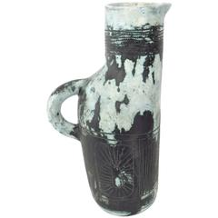 French Ceramic Pitcher by Jacques Blin Ceramic Artist 1960