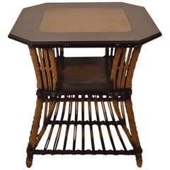 Art Deco Wicker Table