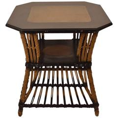 Art Deco Wicker Table