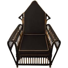 Art Deco Wicker Lounge Chair