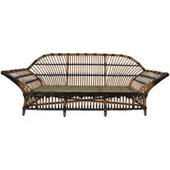 Art Deco Wicker Sofa