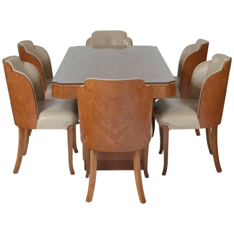 Epstein Burr Maple Dining Set At 1stdibs