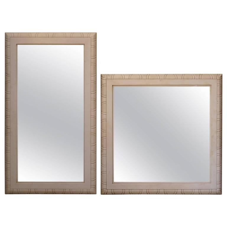 Faux Pair of Marble Art Deco Mirrors, France, 1930s