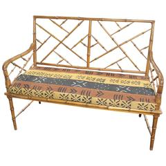 Faux Bamboo Settee
