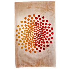 Pure Silk Rugs of Sabine De Gunzburg 'Red Dots'
