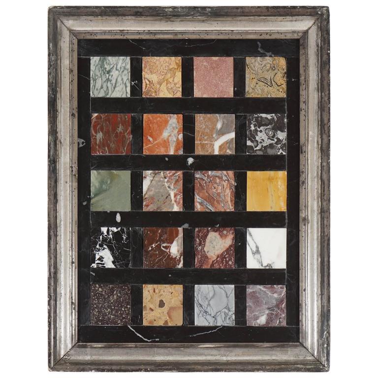 Grand Tour Specimen Marbles Plaque