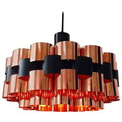 Danish Mid-Century Copper Ceiling Light from Fog and Mørup, Denmark