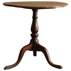 George III Oak and Burr Oak Tripod Table