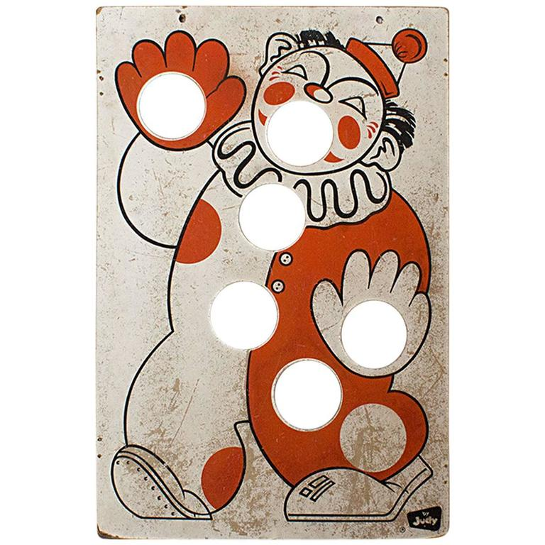 Judy Clown Bean Bag Toss Board 1960s For