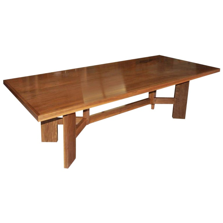 Black Walnut Dining Table, Custom Made by Petersen Antiques