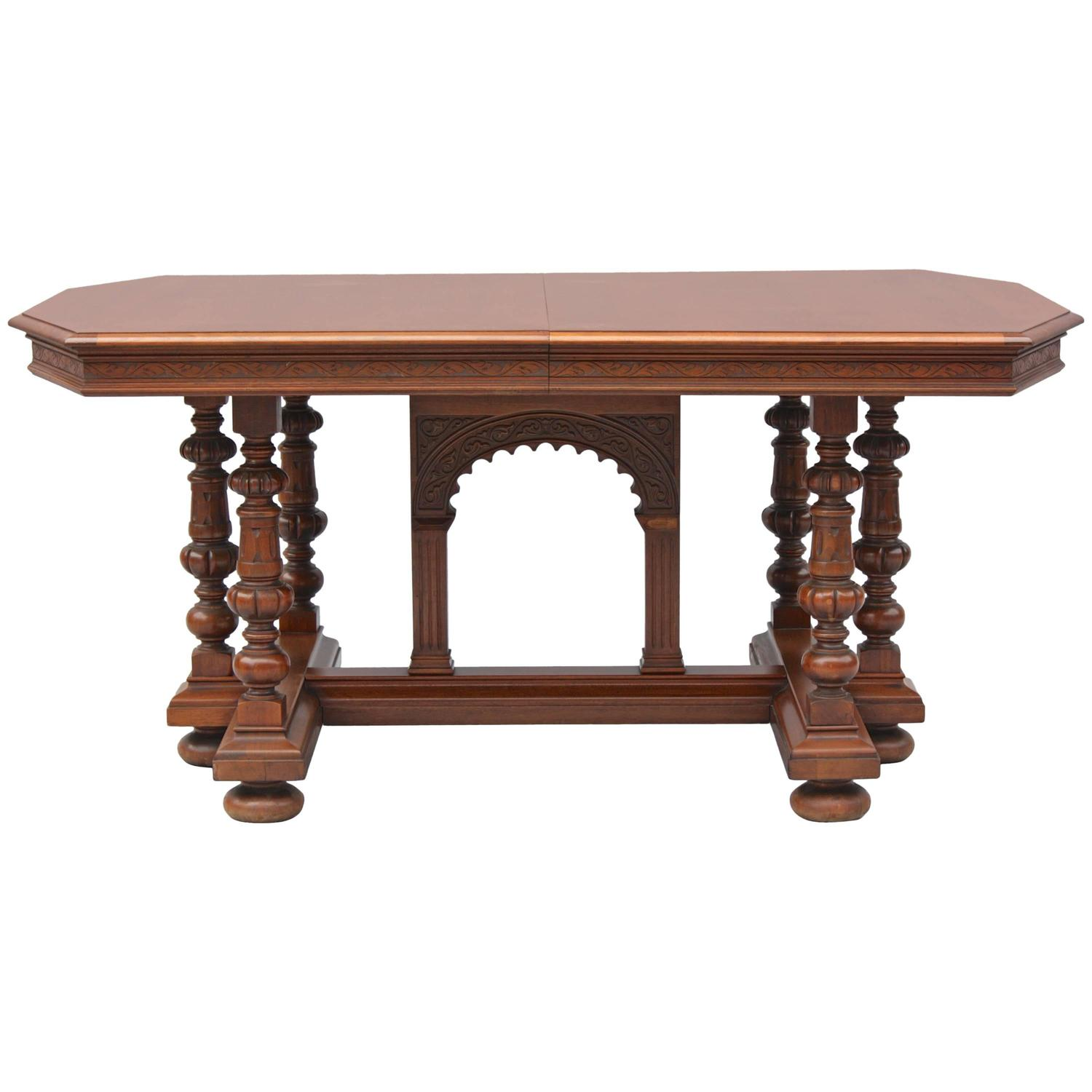 1920s spanish revival dining table with leaves for sale at for Table in spanish