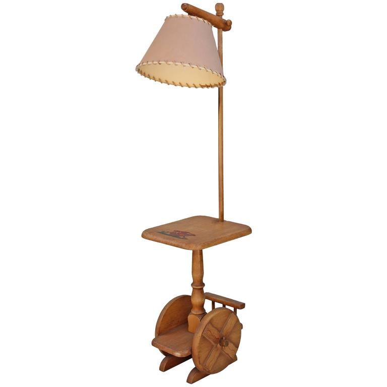 1930s Monterey Period Hand Painted Floor Lamp At 1stdibs