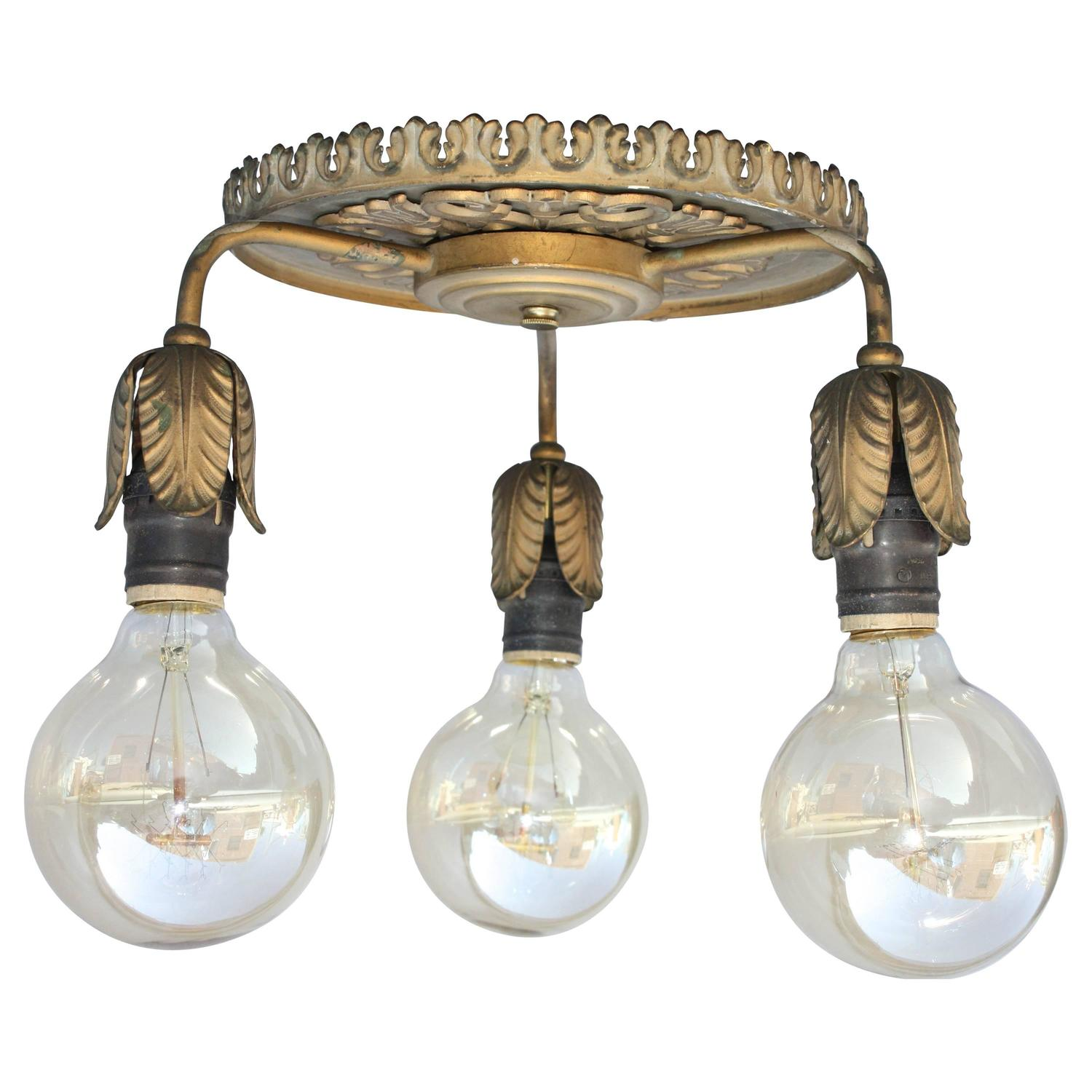 1920s Three Light Ceiling Fixture Spanish Revival At 1stdibs