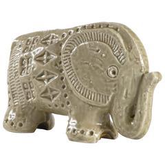 Bitossi Small Elephant Designed by Aldo Londi, Italy, circa 1968