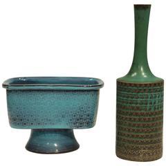 Stig Lindberg Stoneware Vases, Gustavsberg Studio, 1967