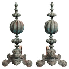 Pair of Baroque Style Andirons