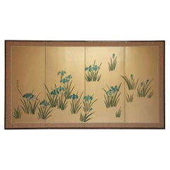 Asian Hand-Painted Panel