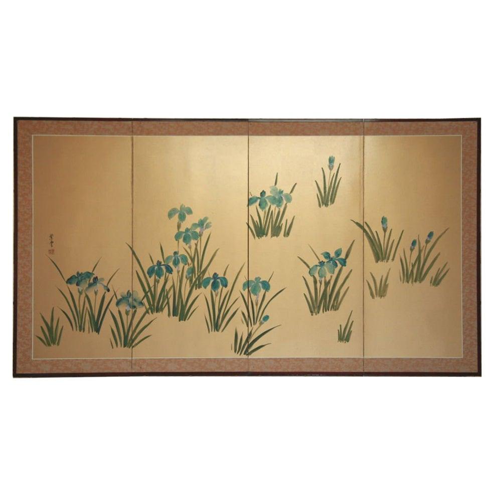 Japanese  Hand-Painted Panel/Screen
