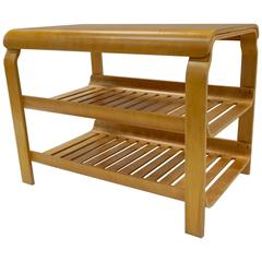 Versatile Aalto Style Bent Plywood Stand