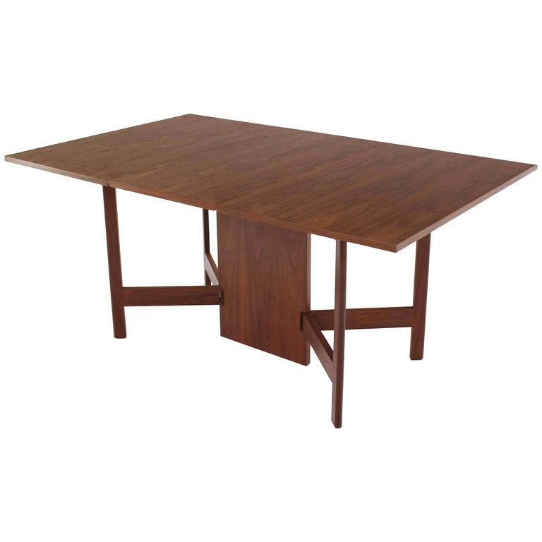 George Nelson Walnut Drop Leaf Dining Table Gate Leg
