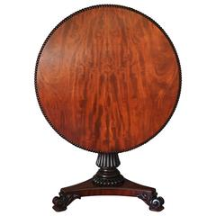 19th Century Mahogany Tilt-Top Centre Table in the Manner of Gillows