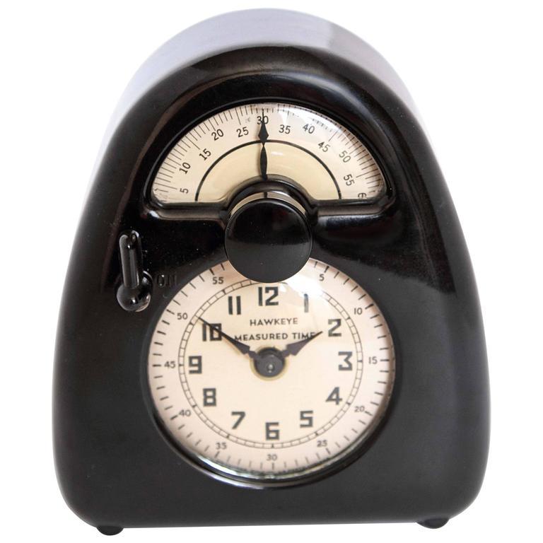 Isamu Noguchi Art Deco Bakelite Hawkeye Measured Time Clock / Timer