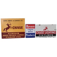 Vintage Original 1930s Chase and Revere Art Deco Metal Advertising Signs