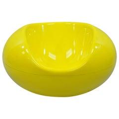 Eero Aarnio for Asko Yellow Fiberglass Pastille Pod Gyro Lounge Chair