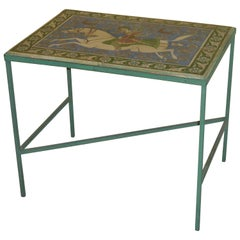 Vintage Persian Tile Coffee Table