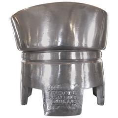Vintage Polished Aluminum Hat Block Mold