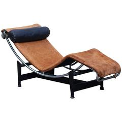 Rare Early Le Corbusier Jeanneret Perriand LC4 Chaise Lounge for Cassina Nr. 880