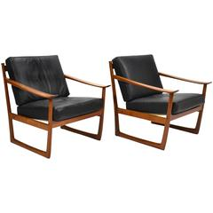 Peter Hvidt & Orla Mølgaard Nielsen Lounge Chairs by France & Son