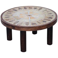 Roger Capron Signed Small Ceramic Coffee Table