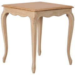 French Small Painted Square Side Table