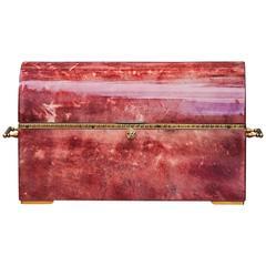 Elegant Aldo Tura Red Goatskin Treasure Jewelry Box