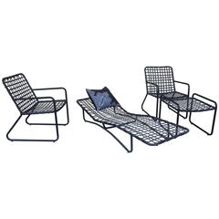 Vintage Four Piece Set Of Brown Jordan Patio Furniture