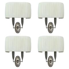 Set of Four Sconces by Ruhlmann, 1925