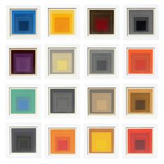 """Josef Albers """"Homage to the Square"""" Complete Suite of 16"""