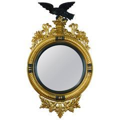 Regency Style Bull's Eye Mirror of Large-Scale