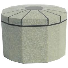 Octagon Shape Shagreen Box