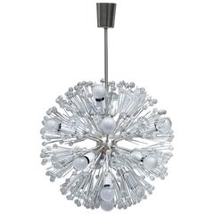 Unique Stejnar Silver Plated 'Dandelion' Chandelier for Rupert Nikoll