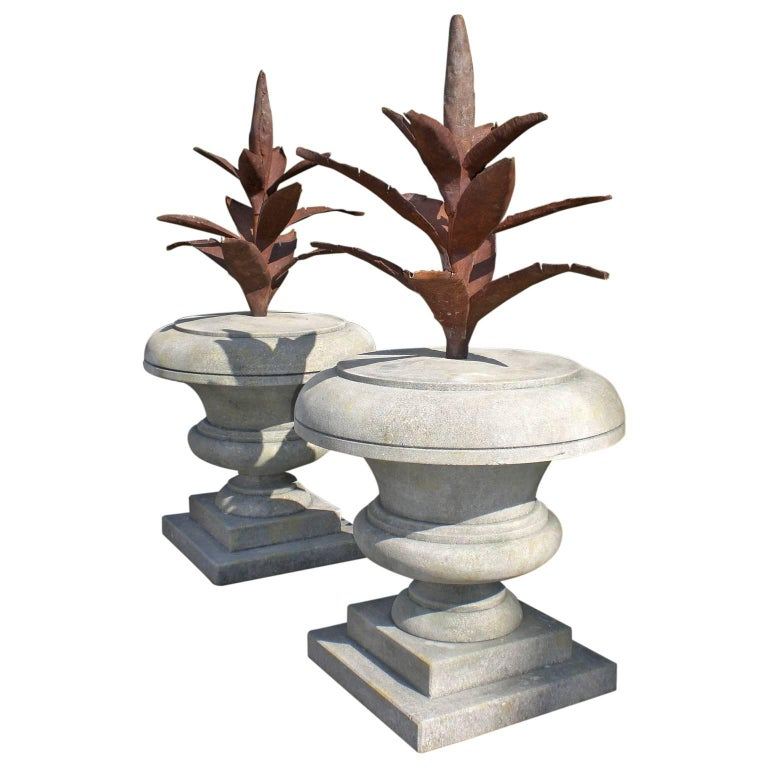 20th Century Pair of Agave Finials For Sale